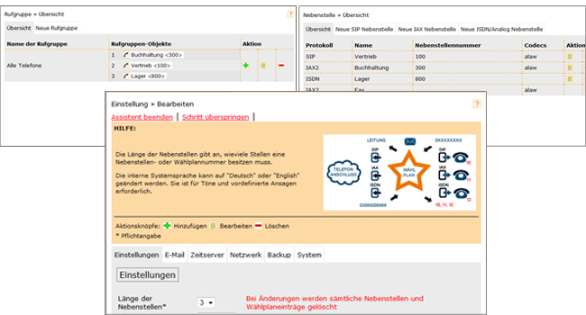 Asterisk Webinterface